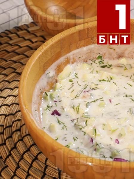 Хапка свежест - Таратор с тиквички и червен лук - снимка на рецептата